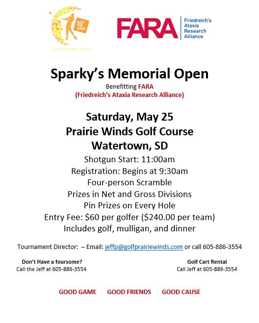 2019 Sparkys Memorial Golf Tournament Flyer v2