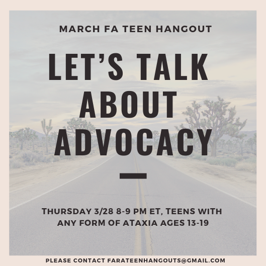 FARA - Teen Hangout - March 2019
