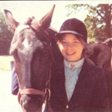 Jean with her pony. 1973