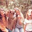 Jean (left) and her sisters, Lisa and Trish. 1972