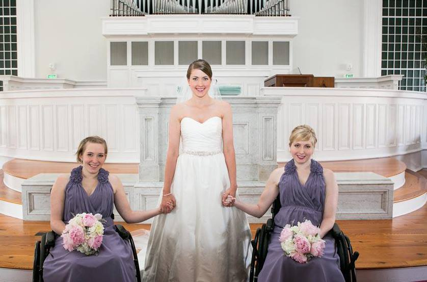 Robbi and her sisters, Becca (left) and Katie (center).