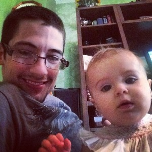 Alex and his niece.