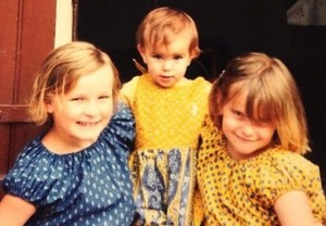 Kiela (left, age 8) with sisters Lucie and Kirsten.
