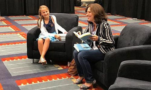 Claire Juip meets R.J. Palacio as a winner of Letters About Literature contest.