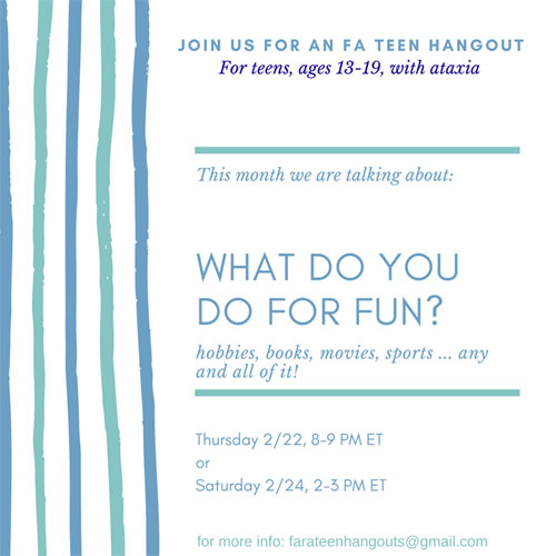 teen hangout feb 2018